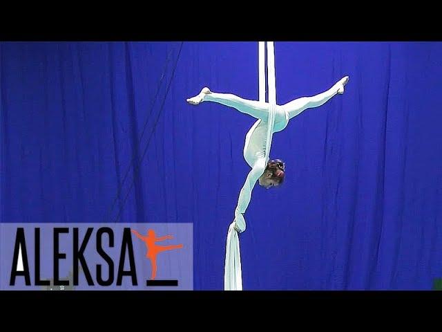 Танец на воздушных полотнах. Воздушная гимнастика, акробатика, полотна. ALEKSA. Елена Жиронкина