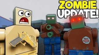 We Try The NEW Zombie Mode Update! - Brick Rigs Multiplayer Lego Gameplay