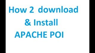 How to download and install apache poi in Eclipse Photon
