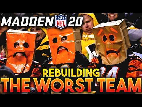 Can I Rebuild the NFL's WORST TEAM & WIN the Super Bowl? Madden 20