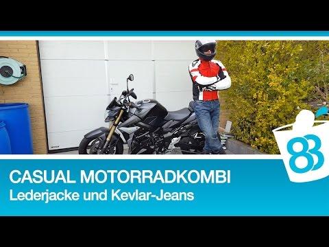 Casual Motorradkombi Büse Vermont Lederjacke und Büse Nevada Kevlar Motorrad Jeans Hose