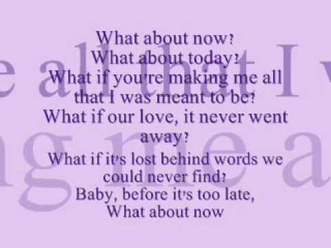 What About Now - Daughtry w/ lyrics