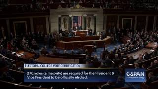 Vice President Biden certifies Electoral College Results (C-SPAN)