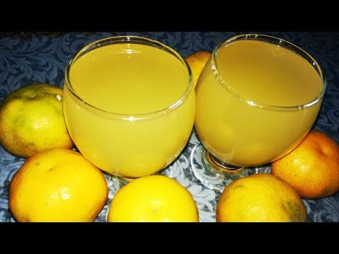 Напиток из мандаринов. Напитки на Новый год.