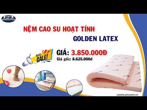 NỆM CAO SU HOẠT TÍNH GOLDEN LATEX