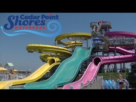 Cedar Point Shores Waterpark 2018 Tour & Review with Ranger (видео)