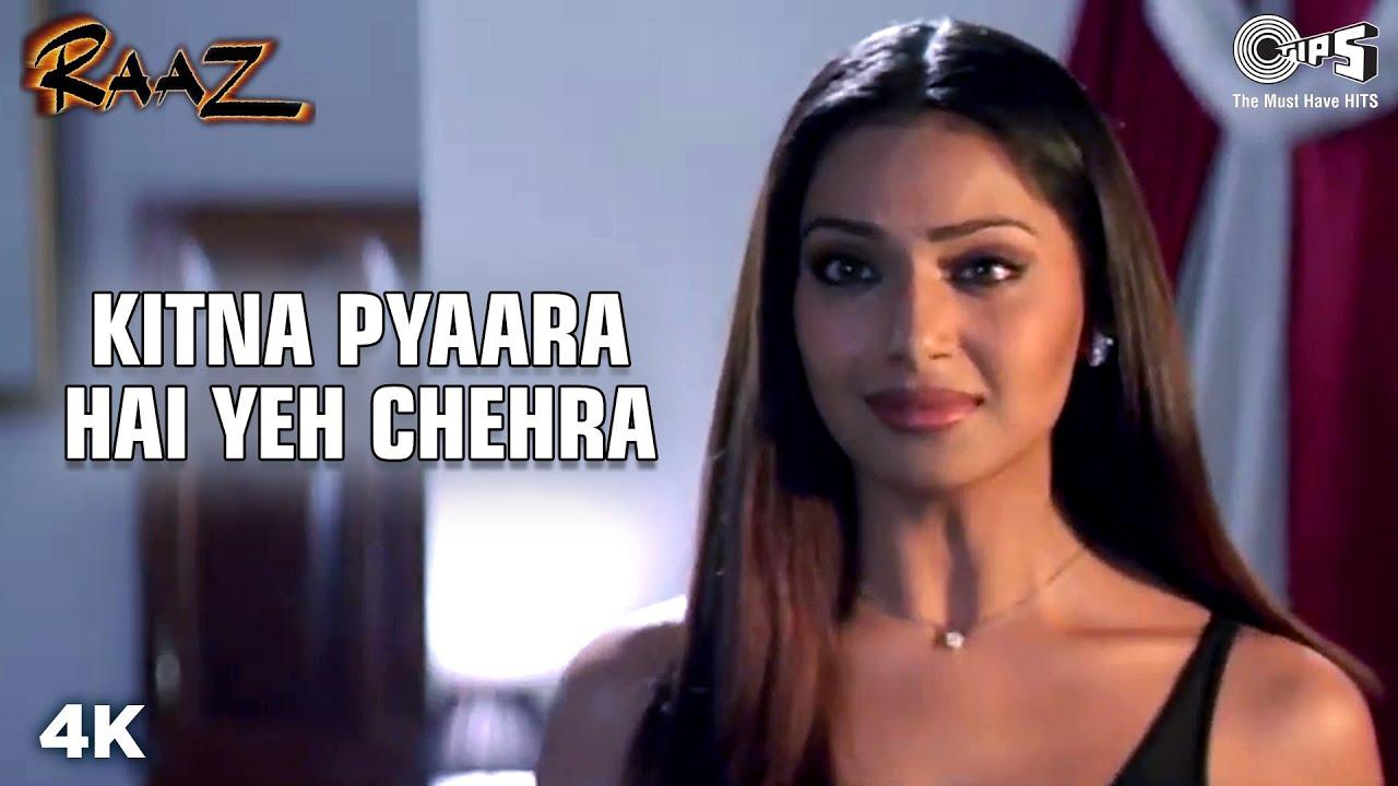 Kitna Pyaara Hai Yeh Chehra | Bipasha Basu | Dino Morea | Alka Y | Udit N | Raaz | Hindi Love Song| Alka Yagnik & Udit Narayan Lyrics