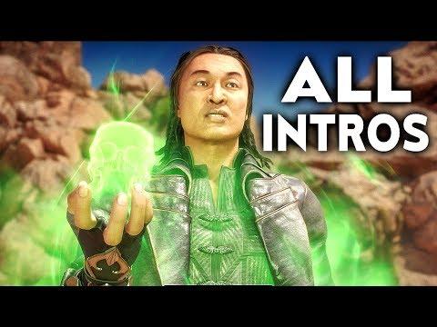 MORTAL KOMBAT 11 Shang Tsung All Intros Dialogue Character Banter MK11