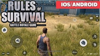RULES OF SURVIVAL - iOS / ANDROID GAMEPLAY ( BEST PUBG GAME )