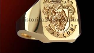 HistoricalNames.com - Family Crest Signet Rings