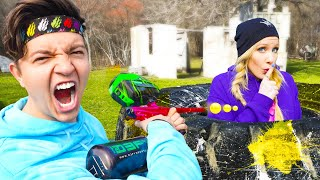 EXTREME Paintball Hide and Seek vs MY WIFE Brianna!
