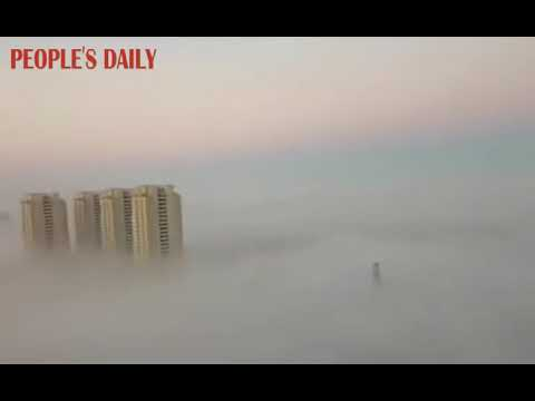 Changchun issued blue alert for fog on Monday as the city was blanketed by heavy fog