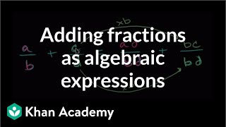 Algebraic Expression Adding Fractions