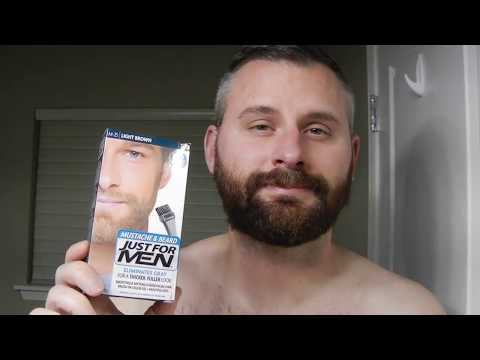 How To Dye Your Beard - Using Just For Men Mustache & Beard