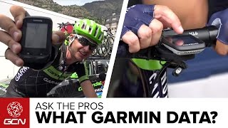 What Do You Have On Your Garmin Screen? GCN Asks The Pros