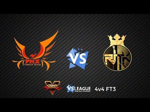 [Street Fighter 5] Défi PHX vs RnK FT3 en 4vs4