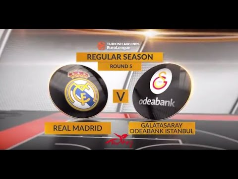 EuroLeague Highlights RS Round 5: Real Madrid 90-81 Galatasaray Odeabank Istanbul
