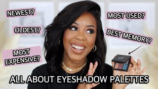 ALL ABOUT EYESHADOW PALETTES | THE EYESHADOW PALETTE TAG W/ JASMINE AIRDELLE | Andrea Renee