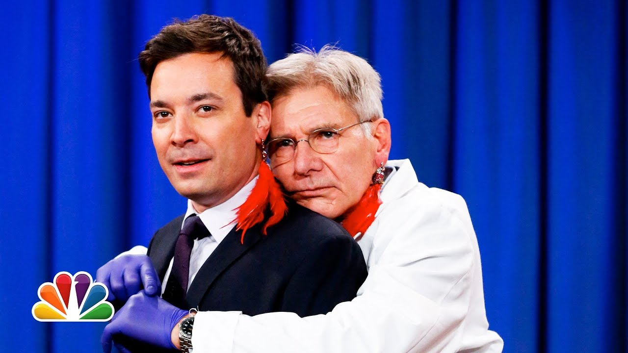 Harrison Ford Pierces Jimmy Fallon's Ear (Late Night with Jimmy Fallon) thumbnail