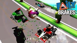 Редкая тачка и НОВЫЙ РЕКОРД в Faily Brakes game kids прохождение гонки ИГРА как мультик про машинки