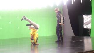 Simi and Justin on the set of Somebody to Love... having FUN!!! :D