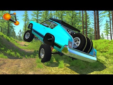 BeamNG.drive - High Speed Off-road Crashes & Fails