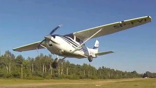 Cessna 182 low pass. Sound on!!
