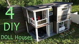 4 DIY Doll Houses
