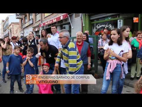 Encierro sábado de Corpus en Vitigudino