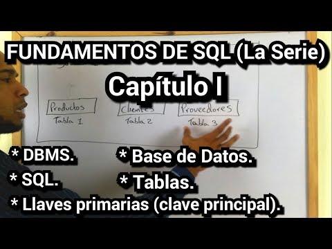 FUNDAMENTOS DE SQL [Capítulo I] (Conceptos básicos, llaves primarias).