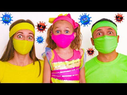 동요 와 어린이 노래 -  바이러스에 대한 새로운 영상 | 마야와 메리