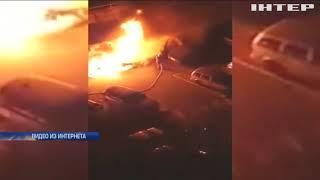 Ночь пожаров: в Одессе сожгли десятки автомобилей (видео)