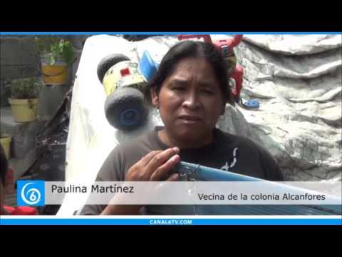 Habitantes de la colonia Alcanfores de Chalco denuncian la falta de agua en sus hogares