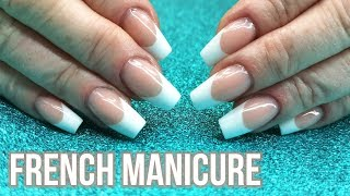 French Manicure On My Mum - Sculpted Nail Tutorial