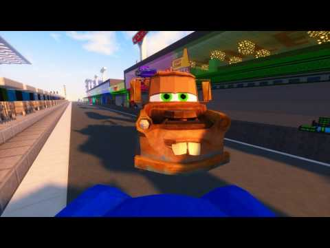 Minecraft CARS - MATER AND SHARKY HELP LIGHTNING MCQUEEN