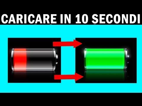 COME CARICARE IN 10 SECONDI LA BATTERIA DEL CELLULARE