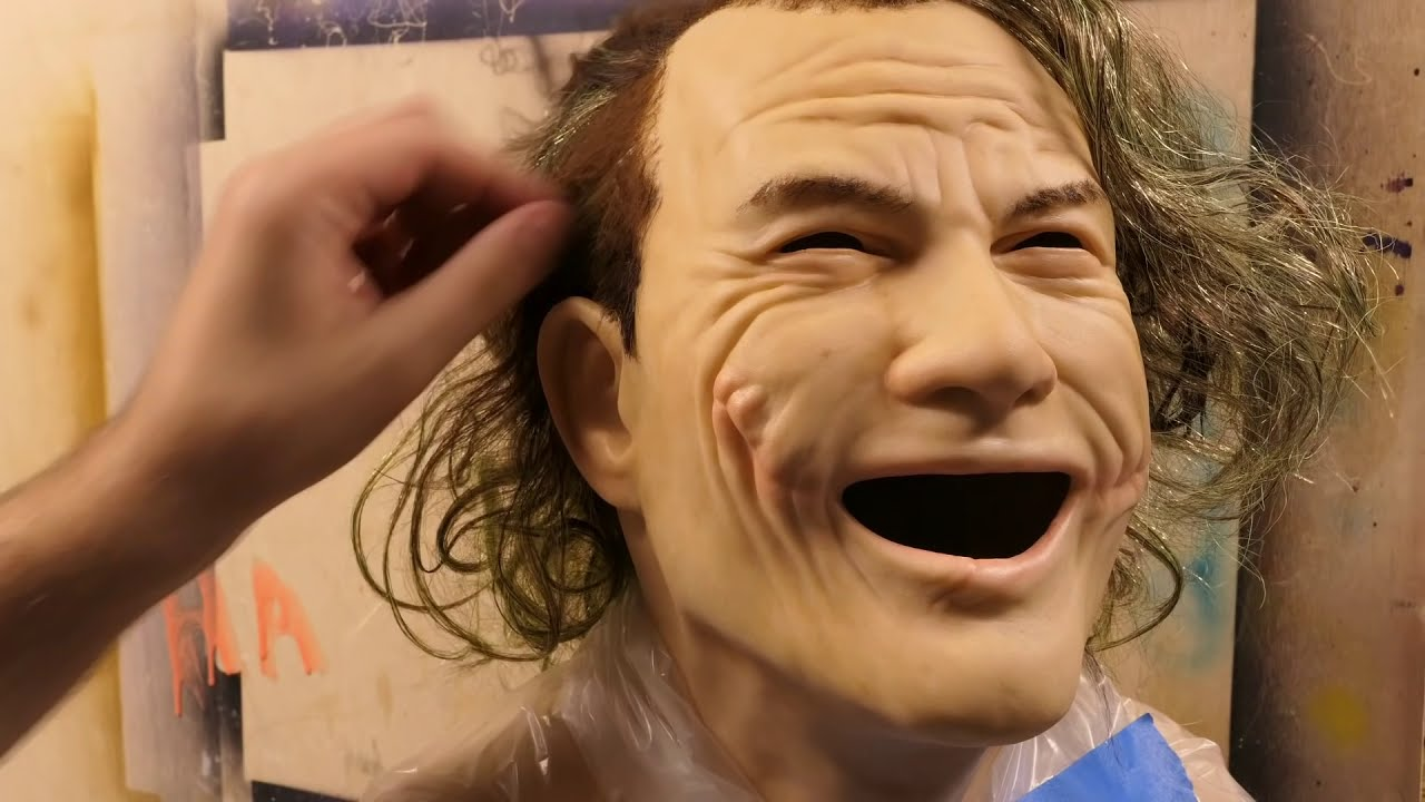 joker sculpture timelapse dark knight by steven richter