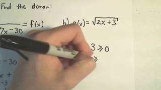 ❖ Finding the Domain of a Function Algebraically (No graph!) ❖