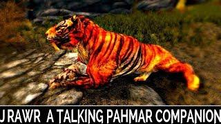 Skyrim Special Edition: ▶️J'Rawr: A Talking Pahmar Companion◀️ Mini Mod Showcase