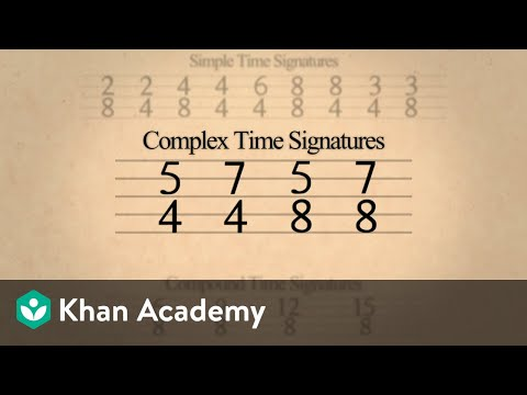 Time signatures – Simple, compound, and complex (video) | Khan Academy