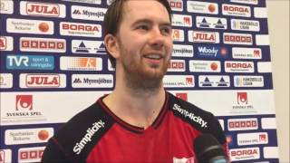 20161207 Intevju med Daniel Ekman efter matchen mot IFK Ystad