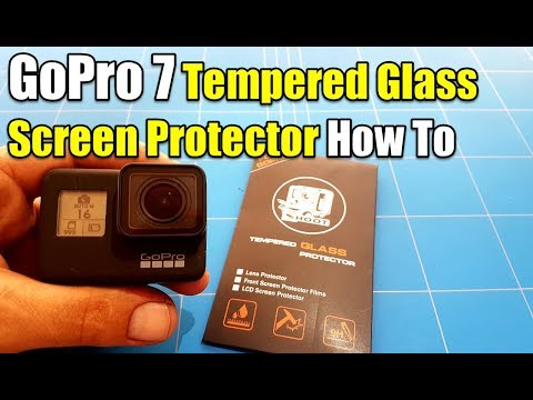 GoPro Hero 7 Black How To Apply Tempered Glass Screen Protector Perfectly Clear