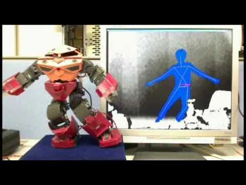 Humanoid Robot Mirrors Its Master, Courtesy Kinect