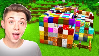 Building a Minecraft house Using EVERY Single Block...