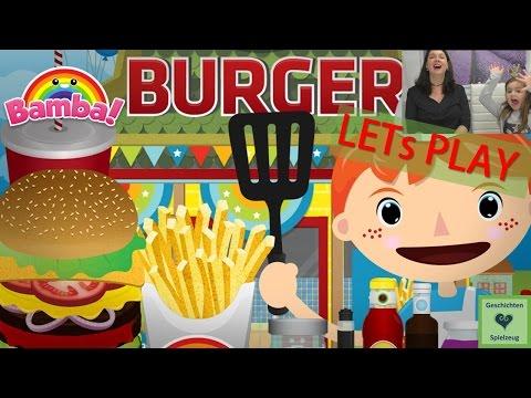 Let's Play BAMBA BURGER 🍔 Lustige App für Kinder 🍔 Geschichten und Spielzeug Kinderkanal