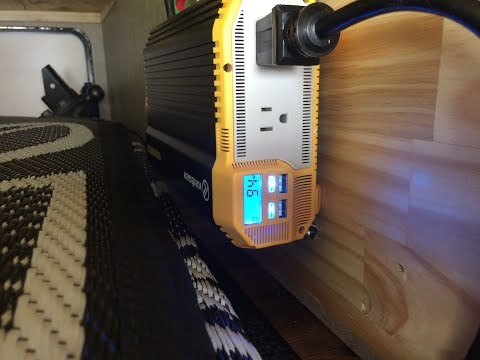 Boon-docking inverter test in RV. Running coffee maker and toaster oven