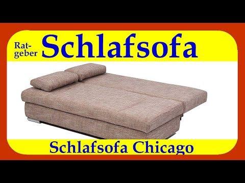 """Schlafsofa mit Ferderkern """"Chicago"""", ein günstiges Schlafsofa mit 150 cm Breite Schlaffläche"""