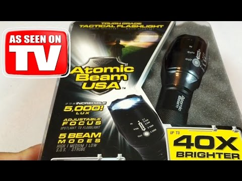 Atomic Beam USA 5000 lux zoomable tactical LED flashlight review – AS SEEN ON TV