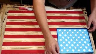 How To Put Stars On A Wooden American Flag.