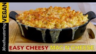 New recipe from Mouthwatering Vegan TV Easy Cheesy Mac Cheese Check it